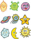 Astronomy Icons Royalty Free Stock Images