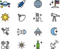 Astronomy icons Royalty Free Stock Photos