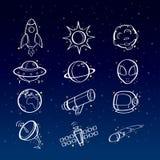 Astronomy icons Stock Photos