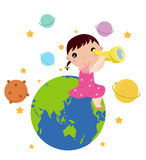 Astronomy for kids Stock Photo