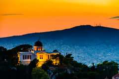 Night scenes of Athens Royalty Free Stock Photography