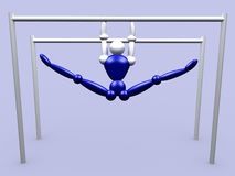 Athlet On Parallel Bars vol 2 Royalty Free Stock Images