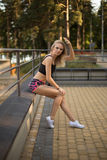 Athletic girl Stock Images