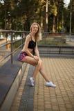 Athletic girl Stock Image