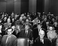 Attentive audience in theater Stock Photography