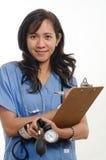 Attractive asian filipino nurse doctor Stock Photos