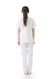Attractive asian nurse from a back Royalty Free Stock Images