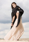Attractive and sensuality woman in the desert Royalty Free Stock Photo