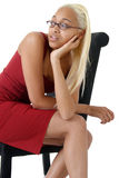Attractive young woman looking bored Stock Images