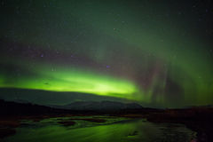 Aurora borealis over Iceland Royalty Free Stock Images