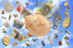 Australian Budget Superannuation Money Royalty Free Stock Images