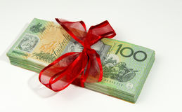 Australian money gift Stock Photo