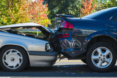 Auto accident involving two cars Royalty Free Stock Image