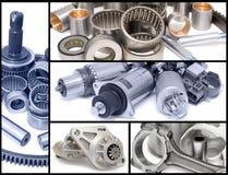 Auto car parts, collage Royalty Free Stock Photos