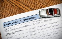Auto Loan Application Stock Photography