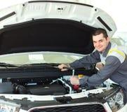 Auto mechanic in car repair Royalty Free Stock Photo