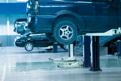 Auto repair shop Stock Images