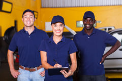 Auto repair workers Stock Photography