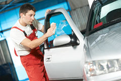 Auto service cleaner washing car Stock Photo