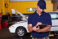 Auto workshop manager Stock Images
