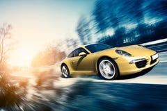 Automobile sportiva commovente Immagine Stock Libera da Diritti