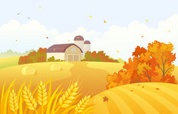 Autumn barn Stock Photos