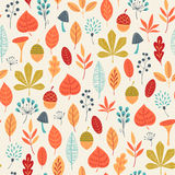 Autumn colors pattern Royalty Free Stock Images