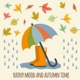 Autumn items Stock Image