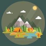 Autumn Landscape Morgenlandschaft in den Bergen einsamkeit Stockfoto