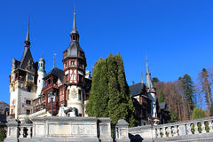 Autumn at The Peles Castle, Romania Royalty Free Stock Images