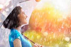 Autumn Rain Fotografie Stock