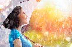 Autumn rain Stock Photos