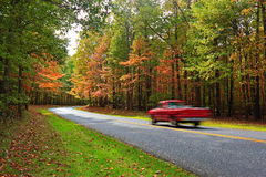 Autumn Scenic Drive Royalty Free Stock Photos