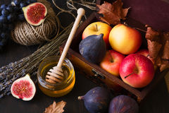 Autumn seasonal fruits Royalty Free Stock Photography