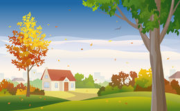 Autumn suburb Royalty Free Stock Photography