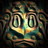 Aztec grodabakgrund Arkivbilder