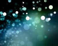 Błękitni tło białych bożych narodzeń światła Zdjęcie Royalty Free