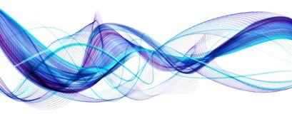Błękitny abstrakcjonistyczny nowożytny falisty tło Fotografia Stock
