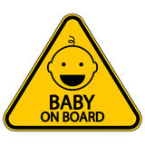 Baby on board sign Royalty Free Stock Photography