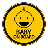 Baby on board sign Stock Image