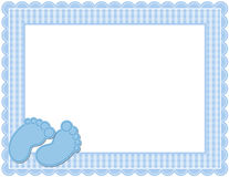 Baby Boy Gingham Frame Stock Image