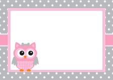 Baby Girl Invitation Card Royalty Free Stock Photography