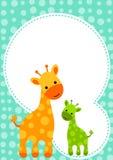 Baby Shower Giraffe Invitation Card Royalty Free Stock Photo