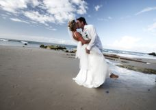 Bacio Wedding.   Fotografia Stock Libera da Diritti