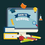Back to school graphic Royalty Free Stock Image