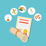 Back to school graphic Stock Photography
