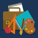 Back to school graphic Royalty Free Stock Images
