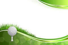 Background abstract green golf white ball illustration Royalty Free Stock Images