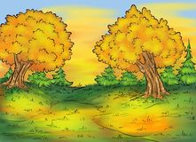 Background autumn forest Stock Photography
