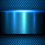 Background blue metal texture Stock Images